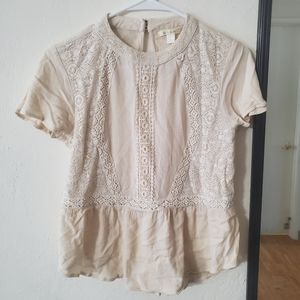 Miami small ivory lace top s